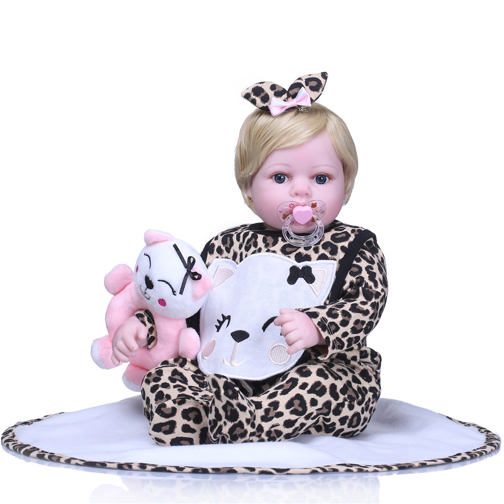 NPK 22  Handmade dolls reborn silicone realistic bonecas reborn adorable dolls with pacifier baby girl childrens gift toysNPK 22  Handmade dolls reborn silicone realistic bonecas reborn adorable dolls with pacifier baby girl childrens gift toys