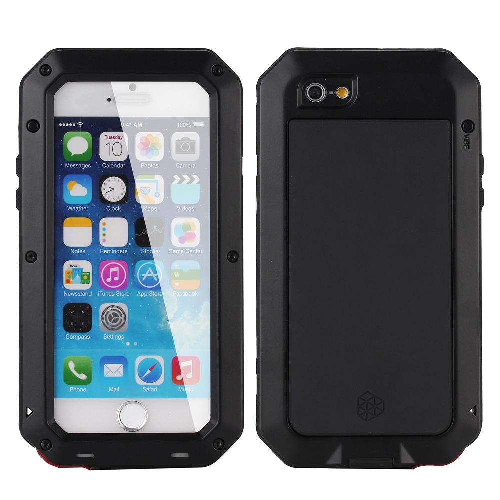 5 5S Luxury Dirt proof Shockproof Waterproof Case For iphone 5 5S SE Tough Armor Aluminum