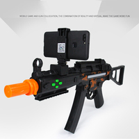 IOS APP Android Game UMP9 AR Gun Game Bluetooth Real Mobile Augmented Airsoft Weapons CellPhone Stand Holder Smartphones Gift *