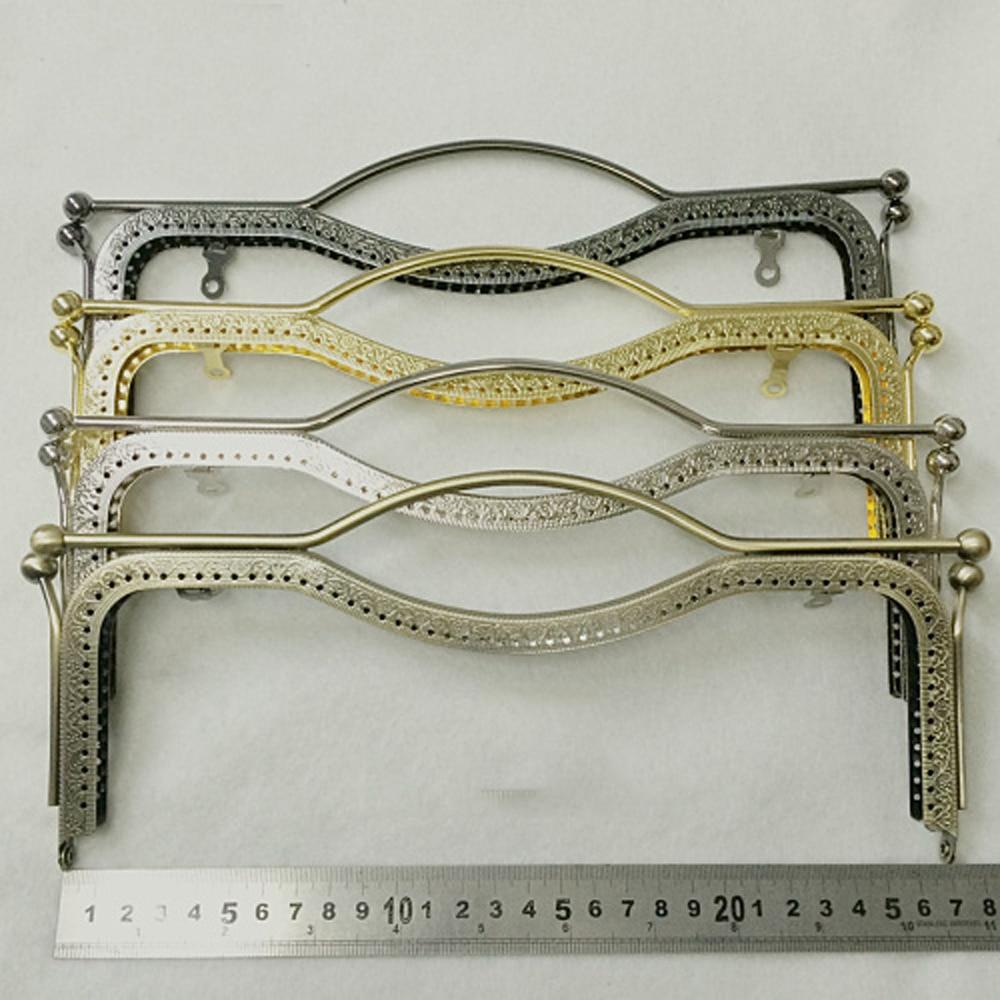 Purse-Frame Clasp Metal Hand-Bag Kiss-Buckle DIY 27cm 2pcs/Lot Making Knurling Big-Size