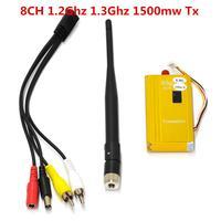 8CH 1.2 GHz 1.3 GHz 1500 mW Video Verici AV Ses ve Video Iletim Sistemi Gönderen