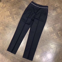 Women Pants for Work Ankle Length Pants Women Brand Pants with Buttons 2019 High Quality Woolen Pants Women Fashion Pants Casual