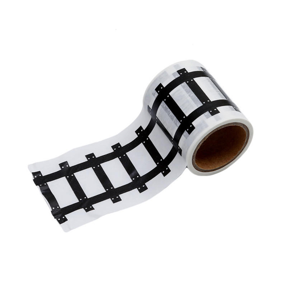 Railway Road Washi Tape Sticker Wide Traffic Adhesive Masking Tape Scotch Road Kid Toy Car Play Gift