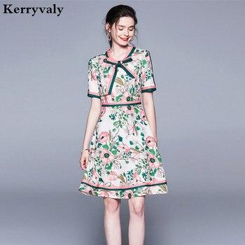 1b2158a8eb842 Летнее пляжное платье с кружевным принтом и бантом, платье с ...