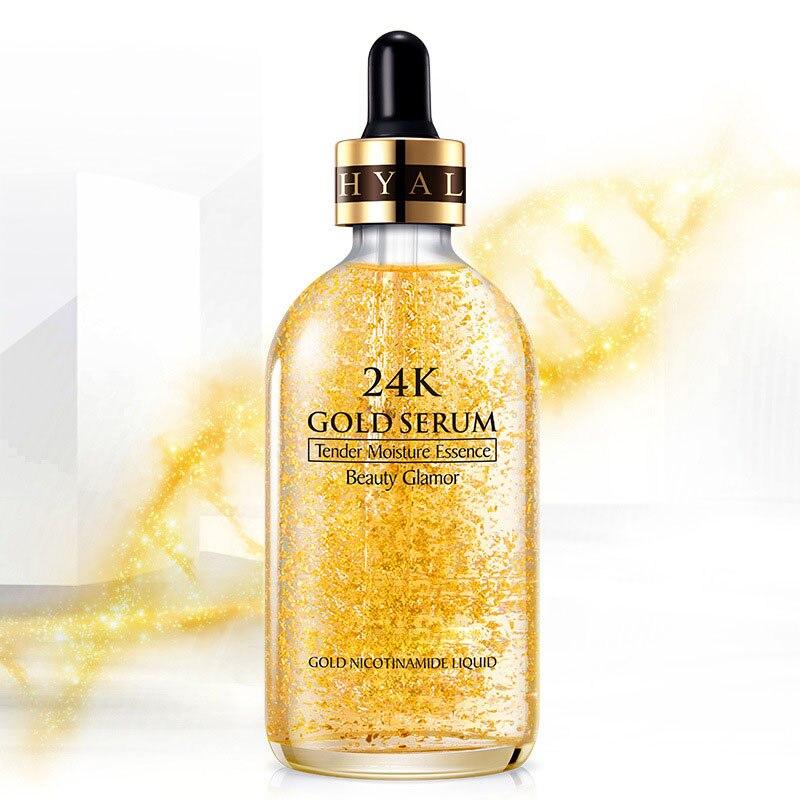 Wholesale 24K Gold Tense Moisture Essence Anti-wrinkle Gold Nicotinamide Liquid Skin Care Essence Moisturizing Women M3