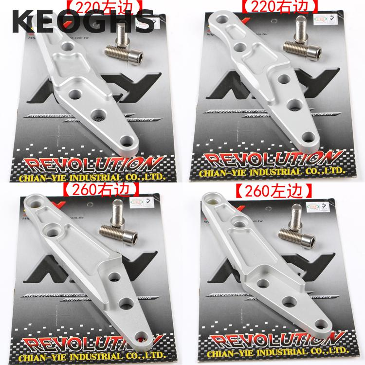Keoghs Motorcycle Brake Caliper Bracket For Fastace Front Shock Absorber For 40mm 4 Piston Brake Caliper Hf6 Adl07 F101 keoghs motorcycle front shock absorbers front fork tube suspension 26mm 27mm for yamaha scooter jog rsz force