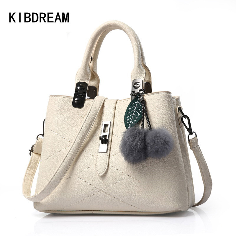 KIBDREAM 2016 Luxury Designer PU Leather Handbags Women Crossbody Bag Famous Brand Ladies Fashion Shoulder Messenger Bags Bolsa lancome
