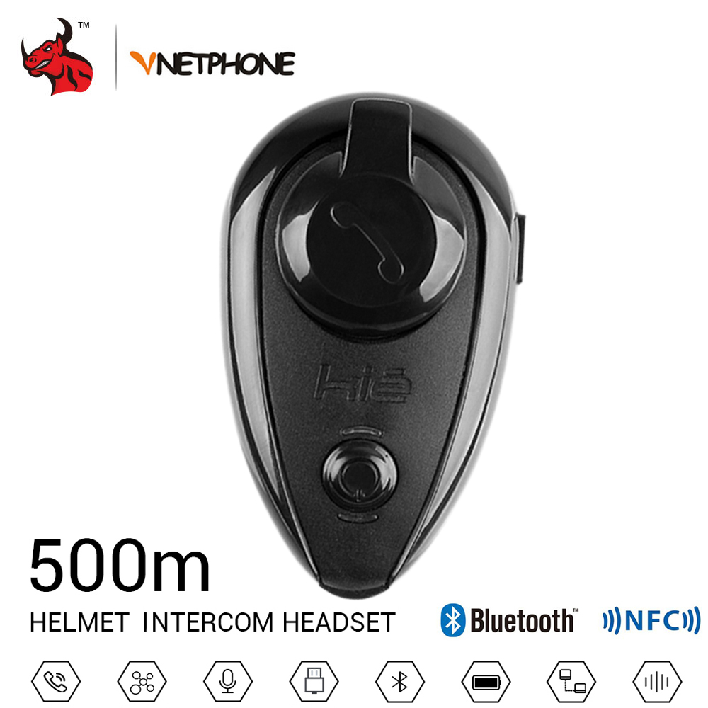 VNETPHONE Helmet Headset Motorcycle Intercom Helmet Bluetooth Interphone Wireless Intercom Bluetooth Intercom For Motorcycle