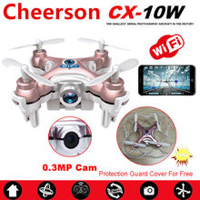 WiFi Mini Drones With Camera Cheerson CX-10W Quadcopters Rc Dron FPV Flying Camera Helicopter Remote Control Hexacopter Toys