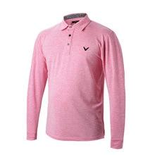 2017 Winter Men's Long Sleeve Lapel Golf T-shirt  thickened men's cotton  Golf Shirts plus size men's Golf polo shirt