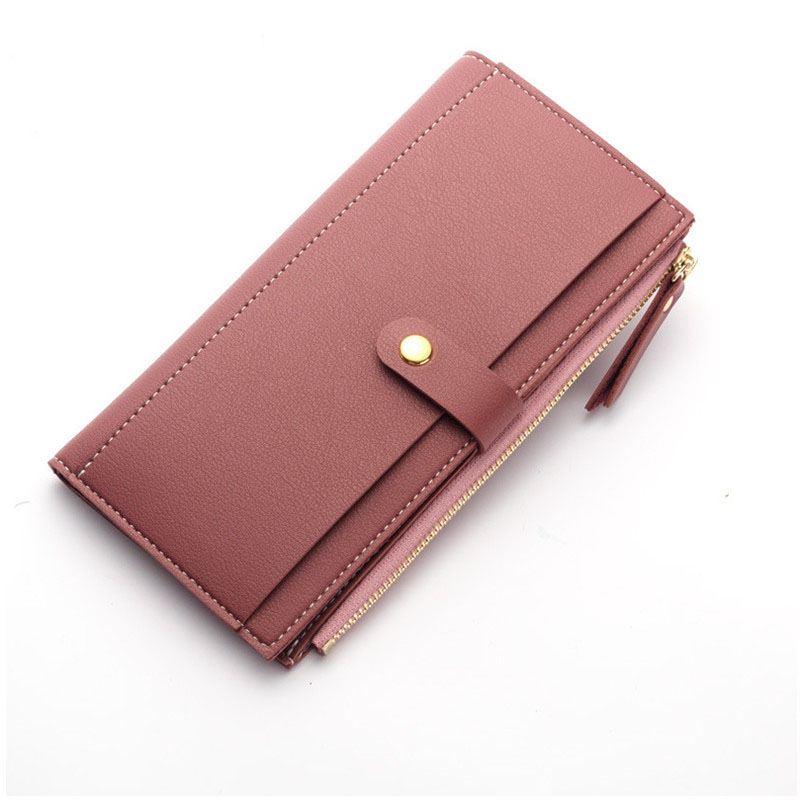 Baellerry Luxury Leather Wallet Women Long Zipper Ladies Purse Women Clutch Wallets Card Holder Women Wallets Coin Purse W088 майка versace versace versace 37698294we