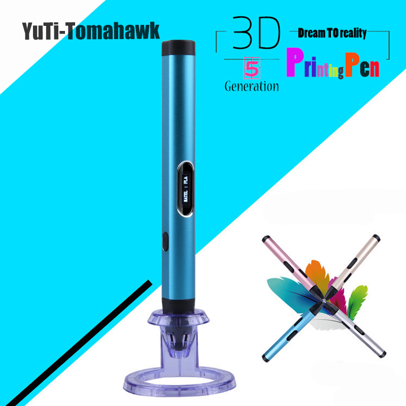 Brand Creative 3D Printing Pens Intelligence Drawing 3D Pen Witha ABS/PLA Filament 3D Best Gift for Kids Printer Pens