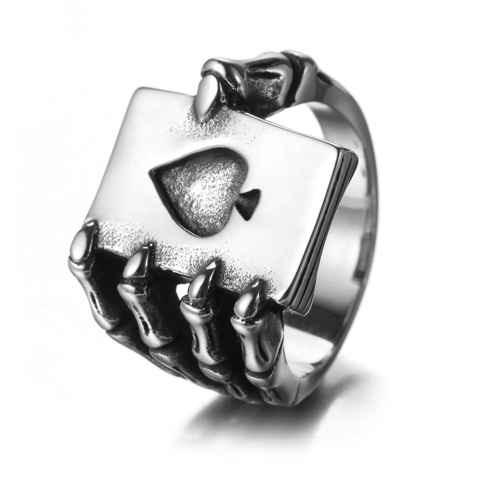 line Buy Wholesale stainless steel titanium heart ring from