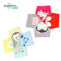 Kid Double Layers Cotton Baby Bibs 1Pcs Newborn Girls Boys Infant Scarf Cartoon Animal Bibs Bandana