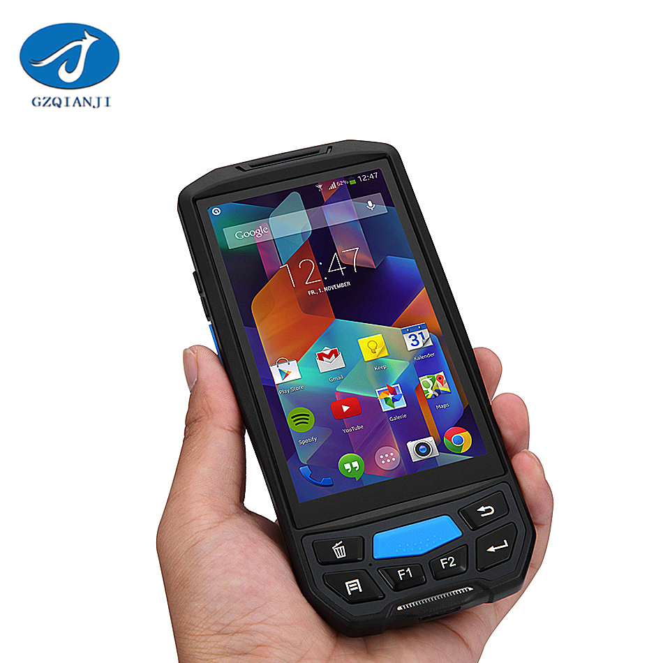 PDA02 Android handheld pda with thermal 2d barcode scanner and free sdk handheld 5.0 inch Touch screen Bluetooth Barcode scanner ...