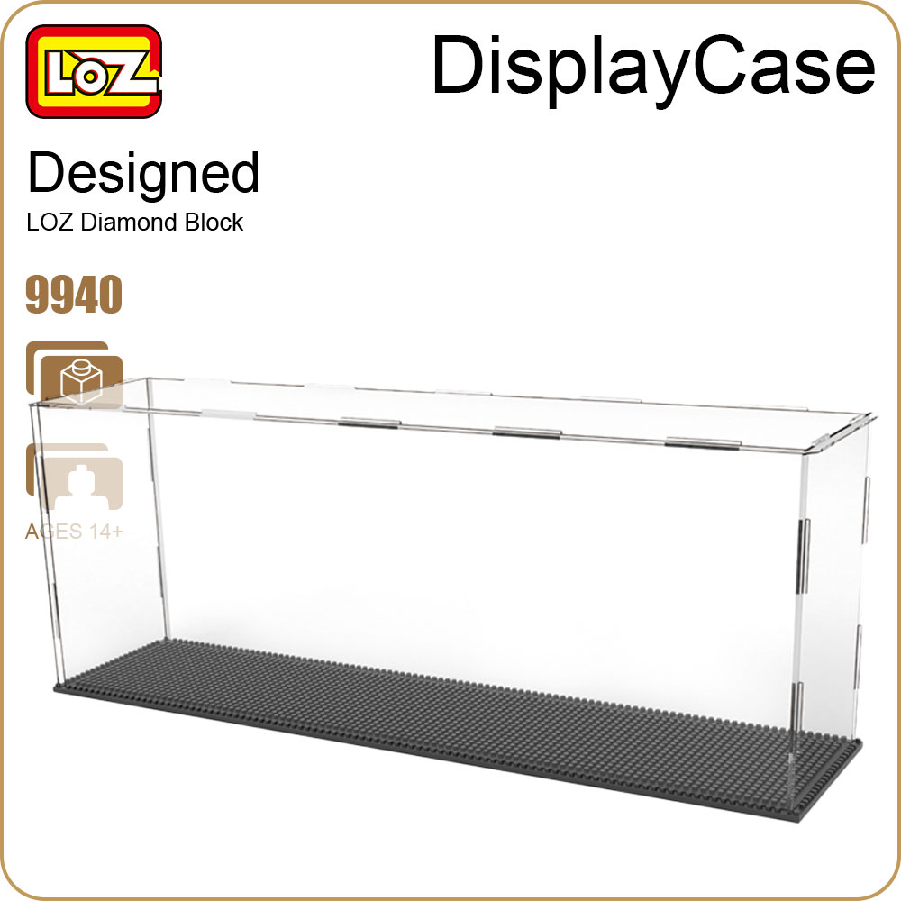 LOZ Diamond Blocks Assembly Display Case Plastic Large Display Box Table for Figures Nano Pixels Micro Blocks Bricks Toy 9940 loz diamond blocks figuras classic anime figures toys captain football player blocks i block fun toys ideas nano bricks 9548