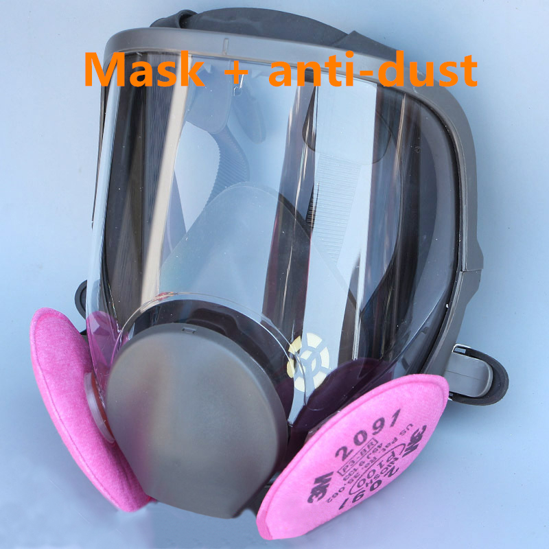 FGHGF Hot Sale 6800 Gas Mask add 3# 4# Cartridge suit Full Face Facepiece Respirator For Painting Spraying New Arrival 9 in 1 suit gas mask half face respirator painting spraying for 3 m 7502 n95 6001cn dust gas mask respirator