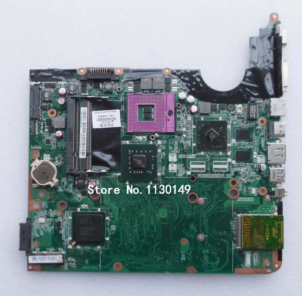 Free Shipping 518432-001 for HP DV6 DV6-1000 DV6T laptop Motherboard , 100% Tested and guaranteed in good working condition!! for hp 6545b 583257 001 laptop motherboard working well and full tested