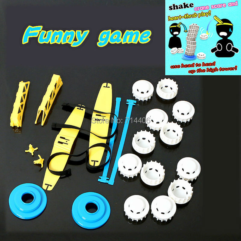 novetly toys Shake crane scare and heart-throb play funny game,up the high tower family challenge game kid-parent puzzle toy