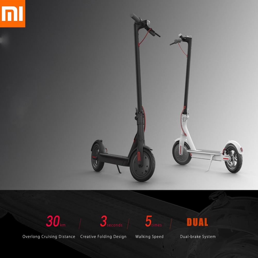 100% D'origine Xiaomi M365 Électrique Scooter Adulte Longboard Hoverboard Planche À Roulettes 2 Roue Ultra-Léger 30 km Kilométrage Scooter Intelligente
