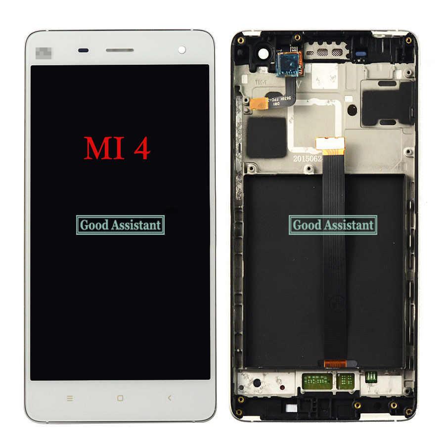 % 100% test AAA 1920x1080 LCD için XIAOMi Mi4c ekran MI4 Mi4i çerçeve ile LCD dokunmatik ekran Digitizer meclisi mi 4 Mi 4c Mi 4i