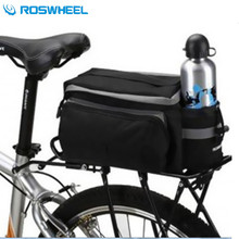 ROSWHEEL Carbon Fiber Leather Saddle Bag Waterproof  Accessories Rear RainCover Bag Volume 10-25L Bicycle Bike Cycling Bag