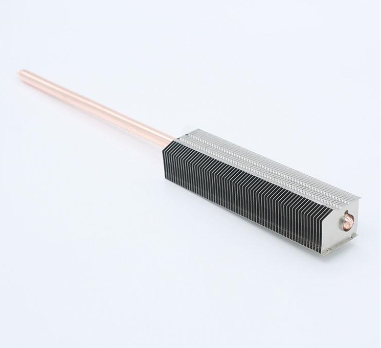 All Aluminum Radiator Flakes Fins Finned Match 8mm Heat Pipe Radiator Processed To Welding Cooling Heatsink+8*200mm Copper Tube