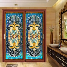 Custom size frosted electrostatic Church Stained glass window film home foil door stickers PVC self-adhesive films