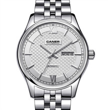 CASIMA Watch Men Stainless Steel Sapphire Automatic Self Wind clock Business Fashion Classical Calendar waterproof 100m