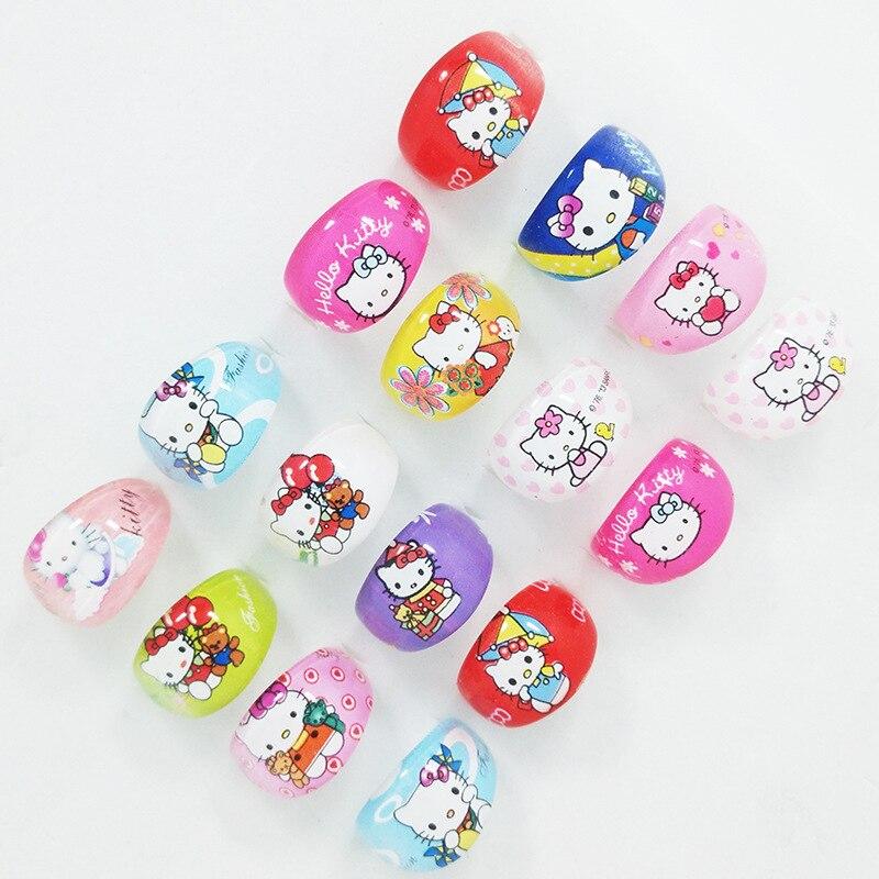 eb72d0dbc32 10Pcs Hello Kitty Resin Plastic Rings KT Cartoon Ring For Lovely Children  Kid Boys Girls Wholesale