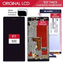 100% Tested Original 5 inch 1920×1080 Display For HUAWEI P7 LCD Ascend P7 Touch Screen Digitizer Assembly With Frame