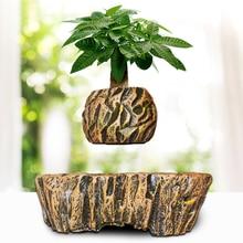 Levitating Air Bonsai Pot - Magnetic Levitation Suspension Flower Floating Pot Potted Plant for Home Office Decor 2019 Hot Sale цена