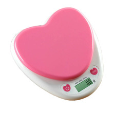 Heart-shapeLED Electronic Scales 5KGg/1g 3kg/0.1g Food Diet Postal Kitchen Digital Scale Balance Measuring Weighing Scales