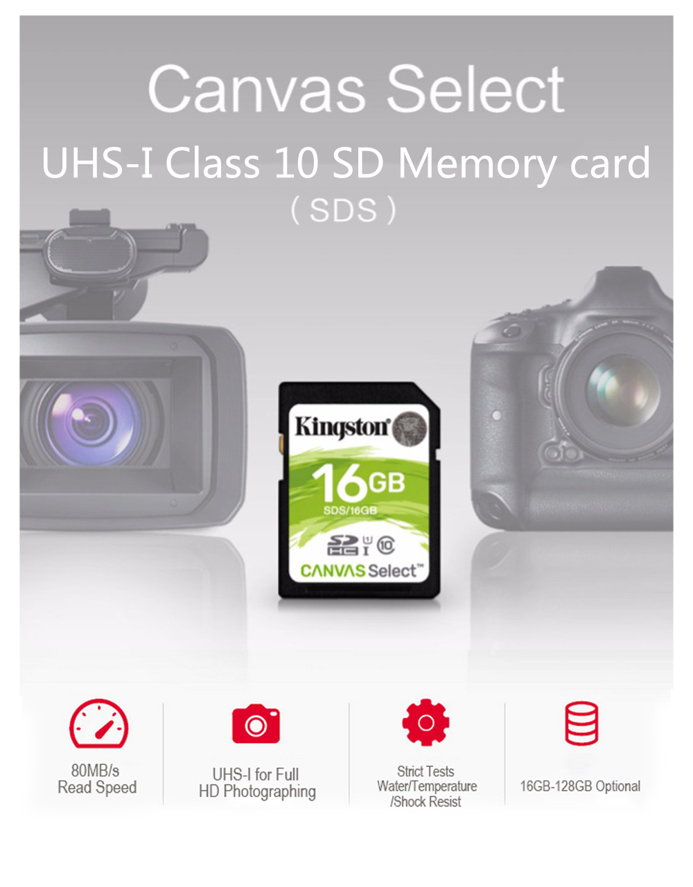 Kingston SD Card 128GB 64GB 32GB 16GB memory card Class10 uhs-i HD video carte sd for laptops DSLR digital video cameras 11
