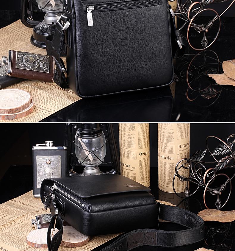 New Arrived luxury Brand men's messenger bag Vintage leather shoulder bag Handsome crossbody bag handbags Free Shipping 9
