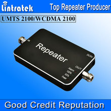 2016 NEW 3G Repeater 3G Signal Boosters ALC 2100MHz 65dbi 20dBm Amplificador Mini Size Mobile Signal LED 3G Signal Amplifier *