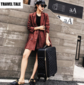 "TRAVEL TALE 16""20""24""inch women spinner retro travel suitcase leather trolley bags"