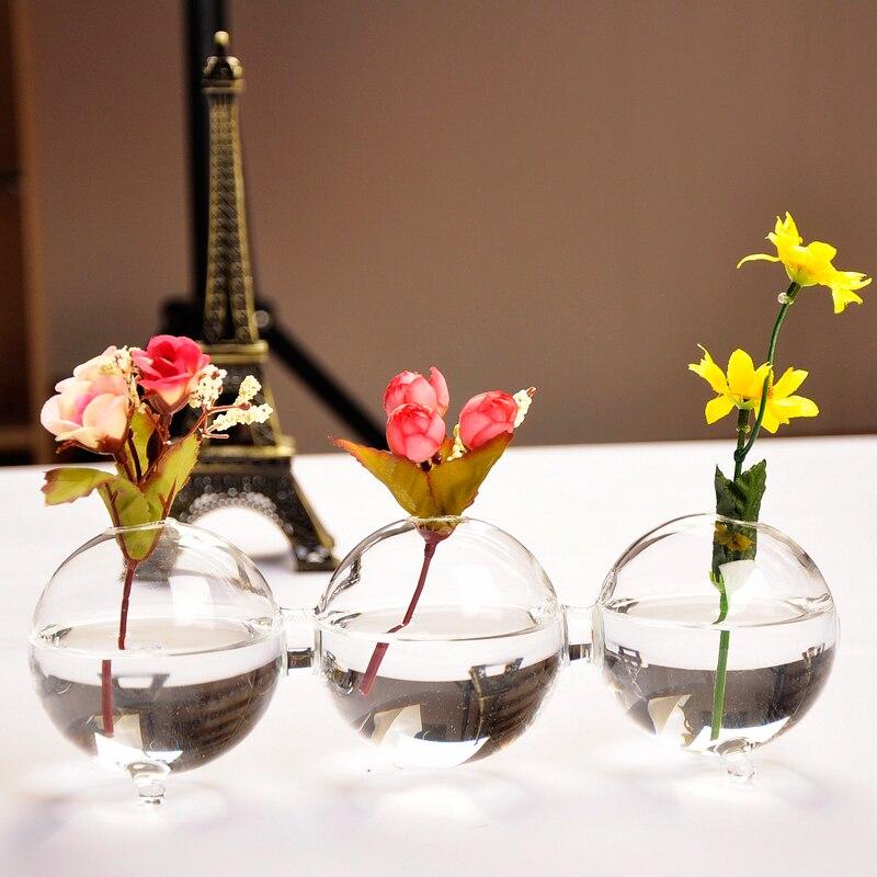 Соединены шарообразные Стекло гидропоника ваза для цветов декоративного садоводства Стекло ware подарок новизны и Craft Орнамент Интимные акс
