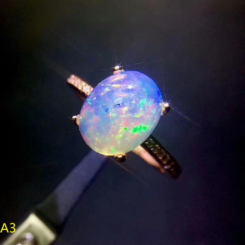 KJJEAXCMY caja de joyería fina de plata pura 925, anillo femenino de ópalo natural, Joya Grande.-in Anillos from Joyería y accesorios    1