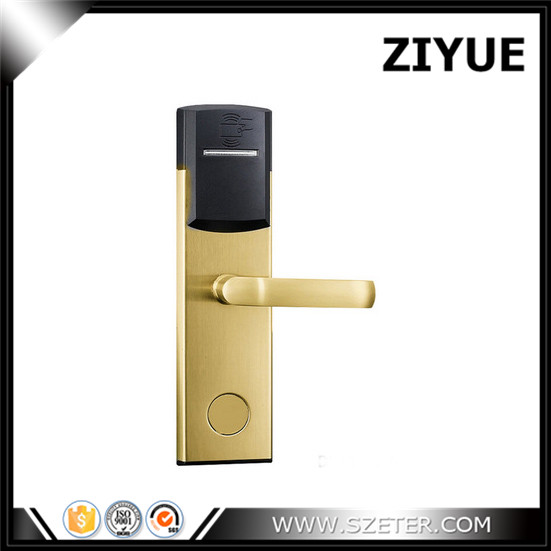 Digital Electric Cheap Intelligent RFID Card  door handle lock for hotel  ET104RF factory direct sale electric hotel lock cheaper rf card door lock