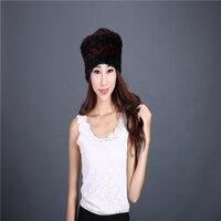 Winter female hat fur hat mink woven hat suede hat
