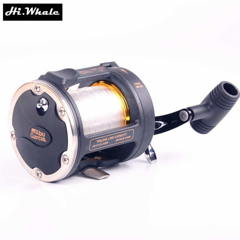 Hi.Whale Abu garcia GT345 fishing wheel 2 shaft boat <font><b>reel</b></font> Casting <font><b>reel</b></font> jig <font><b>reel</b></font> fishing tackle