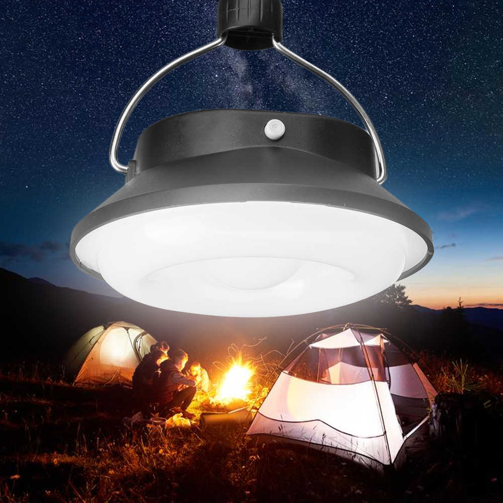 28 LED Portable Solar Powered Camping Tent Light Outdoor Ultra  Lamp Emergency Charger For Your Phone