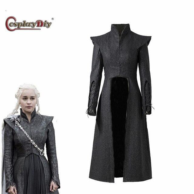 Juego de tronos temporada 7 Cosplay Daenerys Targaryen abrigo madre de  dragones chaqueta traje adulto mujeres 180c250d4539