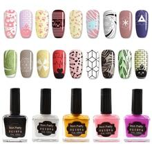 BORN PRETTY 15ml Candy Colors Nail Art Stamping Polish Sweet Style Print Varnish for Stamping Nail