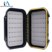 Maximumcatch 2pcs/lot 136 x 86 x 36mm Fly Box Small Waterproof Easy-grip Foam Plastic Fly Fishing Box