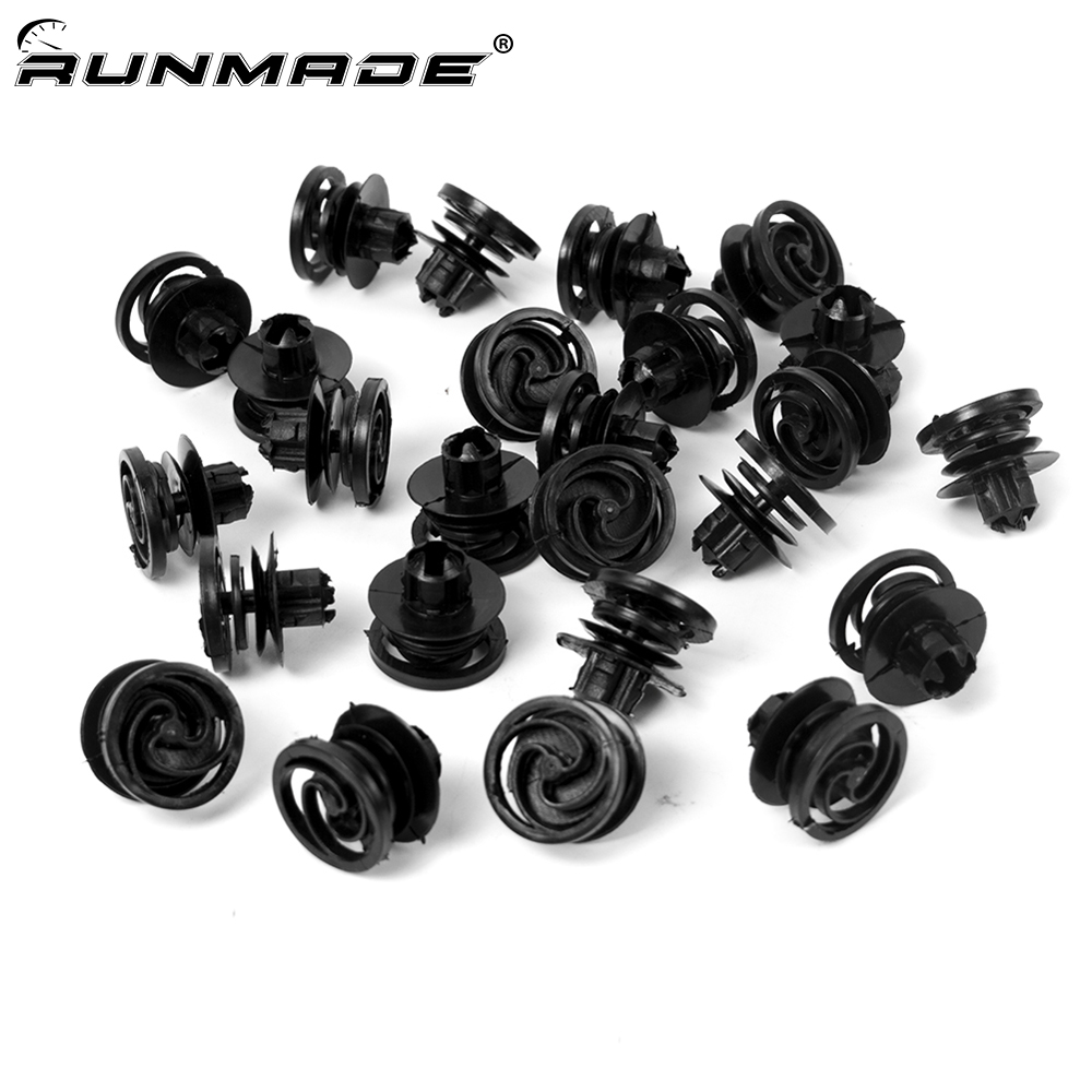 10X Plastic Car Door Panel Clips Fastener Rivets Fit For  Polo 6N 6N0868243A
