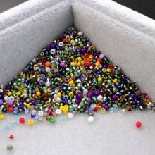 1.5/3 milímetros de Cor Mista Rodada Contas Espaçador de Sementes de Vidro Para Jóias Encontrar Acessórios de Colar Pulseira Artesanal do Ponto da Cruz Diy