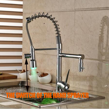 Deck Mounted Kitchen Faucet with LED