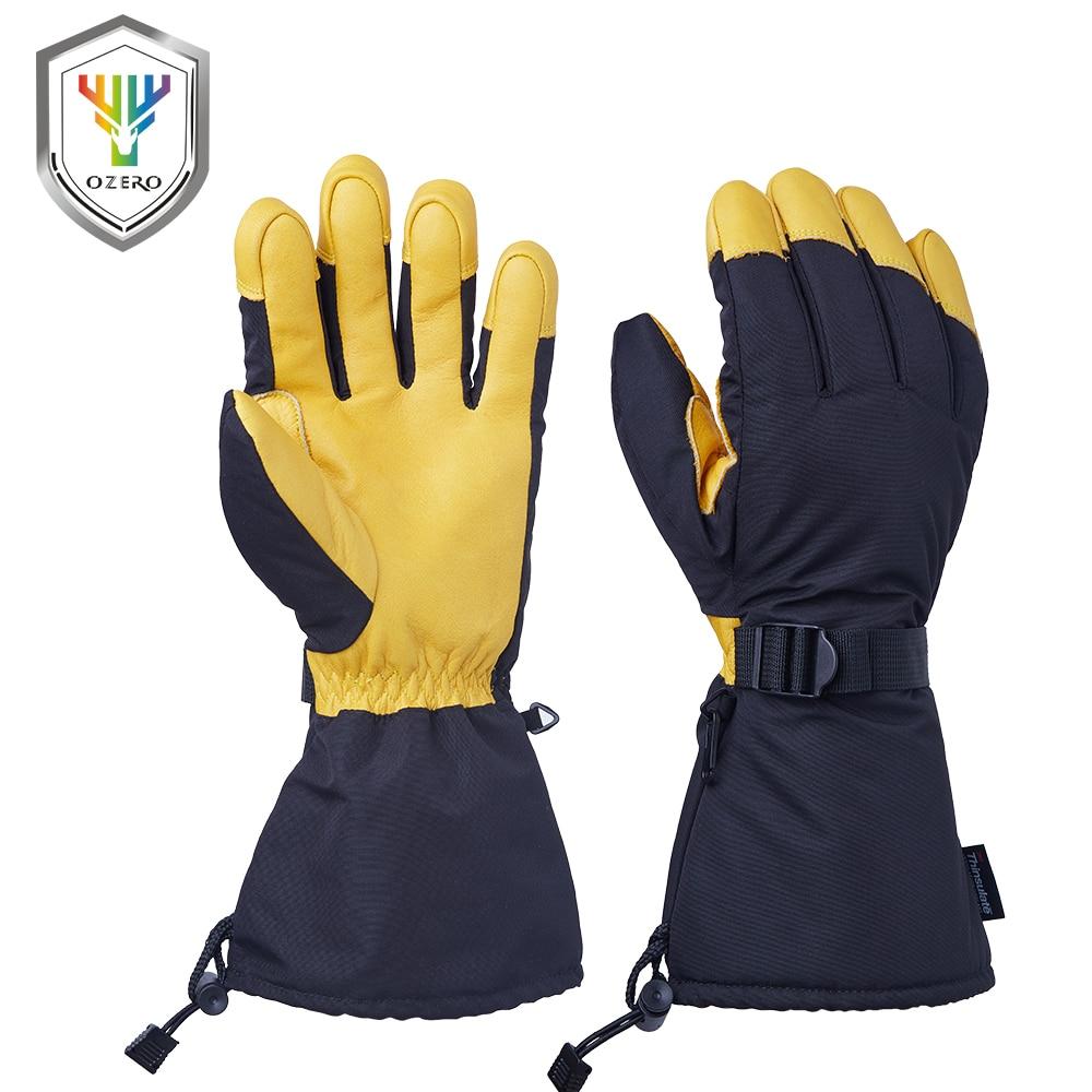 OZERO Ski Gloves Winter Snowmobile Sports Motorcycle Riding Windproof Waterproof Warm Skiing Snowboard Gloves For Men Woman 9008